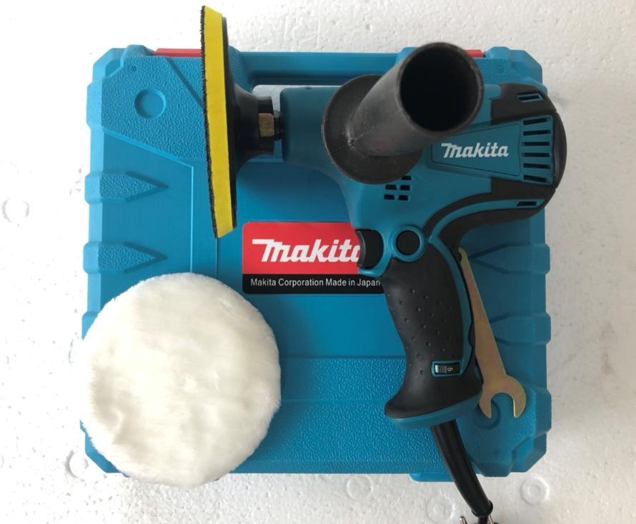 Máy chà nhám Makita GV6010 - makita (đánh bóng ô tô) hộp nhựa chữ nổi