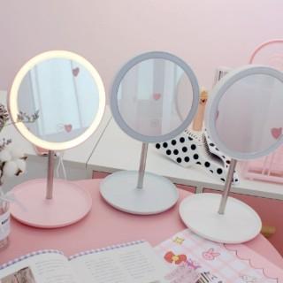 Gương trang điểm để bàn có Led Hình tròn cực đẹp cực rõ hàng cao cấp, Gương soi đa năng mẫu mới bán chạy thumbnail
