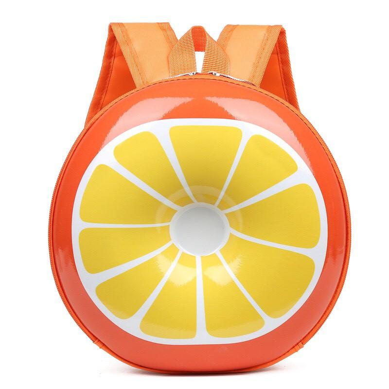 Balo hình hoa quả cho bé mầm non từ 0 - 6 tuổi, chống thấm nước, ngộ nghĩnh, đáng yêu bằng nhựa hot 2021 thumbnail