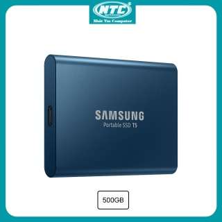 Ổ cứng di động SSD External Samsung T5 500GB - USB 3.1 Gen 2 (Xanh) - Nhất Tín Computer thumbnail