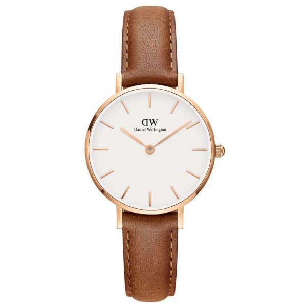 Nơi bán [ MUA 1 TẶNG 1 ] Đồng hồ nữ cao cấp đồng hồ nữ danlei wellingt0n classic petite ashfield dw00100228-quartz(pin)-dây da-28mm-full box, Đồng hồ nữ chống nước, đồng hồ nữ sang trọng