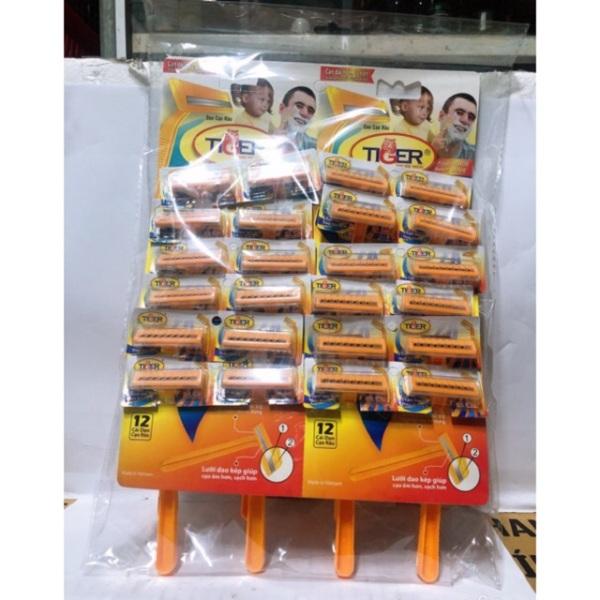 Dao Cạo Râu Tiger 2 Lưỡi (VỈ 24 CÂY) giá rẻ