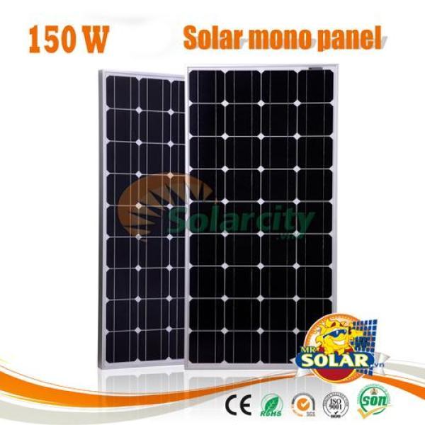 Pin năng lượng mặt trời Mono 150w mono (Tặng Jack MC4)