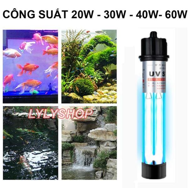 Đèn UV  20W / 30W / 40W / 60W bóng kép diệt tảo, khuẩn có hại dành cho hồ cá cảnh, hồ cá Koi, Cá Rồng..  (trắng)