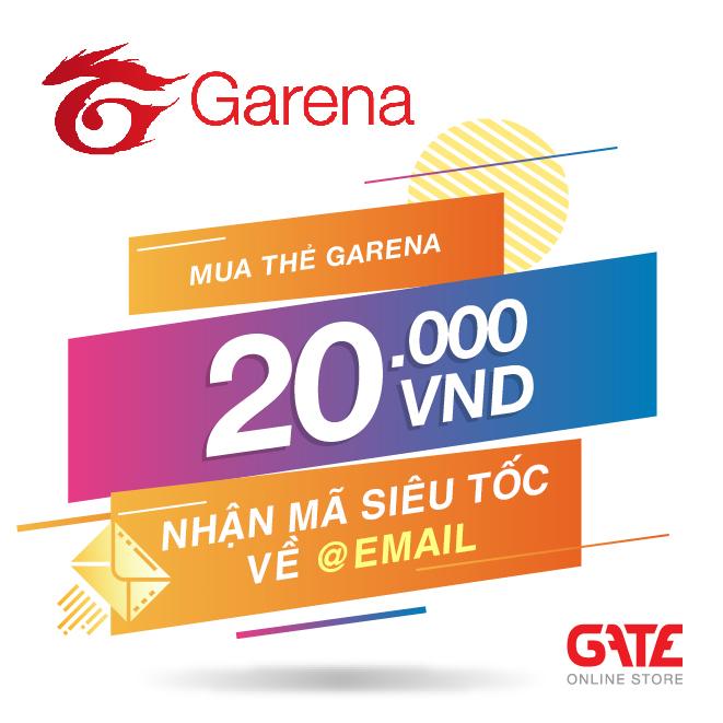 Thẻ GARENA 20.000 - nhận mã SIÊU TỐC về ngay EMAIL