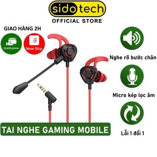 Tai nghe gaming có mic cho điện thoại SIDOTECH phiên bản G3M micro kép 360 độ, tháo rời chống ồn game Pubg FF ROS thumbnail
