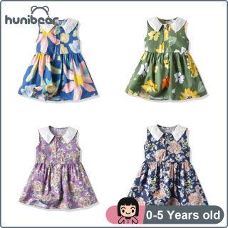 Baby Gilrs Dress Đầm Cotton Không Tay Có Ve Áo Hoa Cổ Điển Ngọt Ngào, Đầm Cổ Điển Cho Trẻ Em