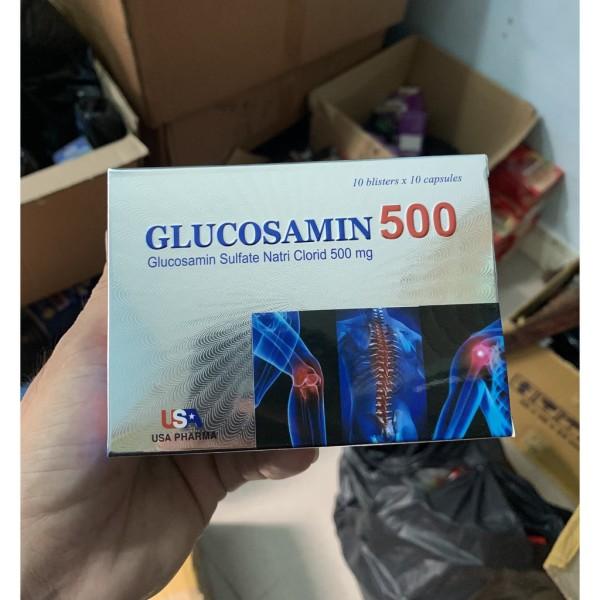 GLUCOSAMIN 500 - HỖ TRỢ TĂNG TIẾT DỊCH KHỚP CHÍNH HÃNG HIỆU QUẢ CAM KẾT NHƯ HÌNH HỘP 100 VIÊN