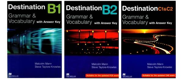 Bộ sách 3 quyển Destination B1,B2,C1&2 ( sách gia công đen trắng)