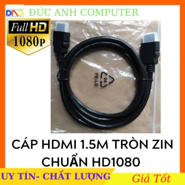 Bảng giá Cáp HDMI 1m5 Tròn Đen Chuẩn full HD 1080 , Dây HDMI 1m5, Kết Nối Tivi Độ Nét Cao, 2 Đầu FULL HD Phong Vũ