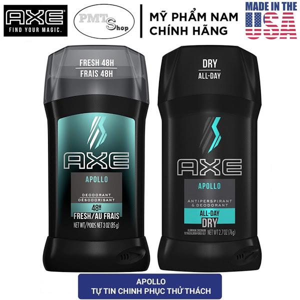 [USA] 1 chai Lăn Sáp khử mùi nam Axe Apollo Deodorant 85g | Antiperspirant 76g - Mỹ