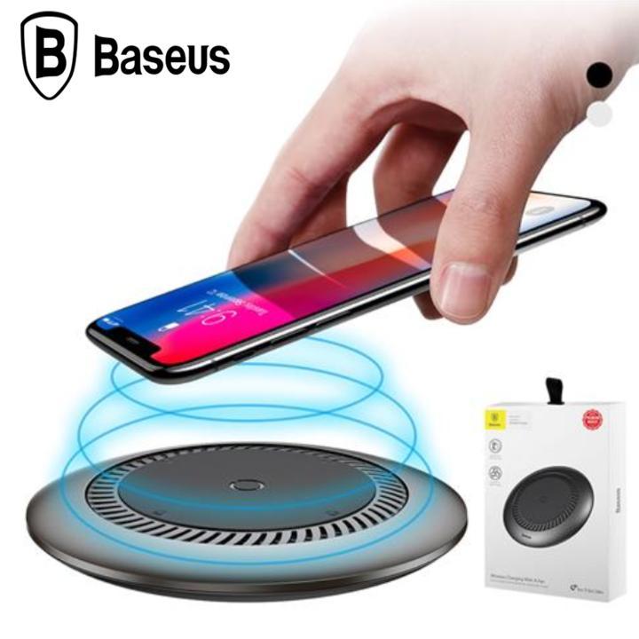 Đế sạc nhanh không dây tích hợp quạt hút tản nhiệt Baseus CCALL-XU01 cho Apple iPhone/ Samsung (Qi Wireless Quick Charger) CCALL-XU01