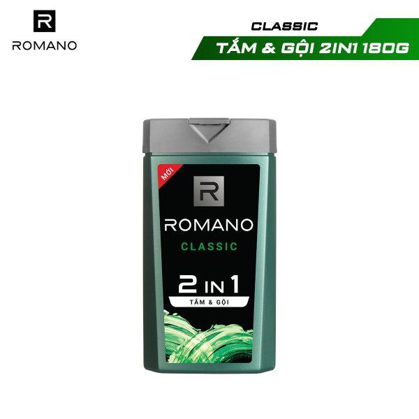 [Minigame 2in1] Tắm gội 2 trong 1 Romano 180g (giao mùi ngẫu nhiễn) cao cấp