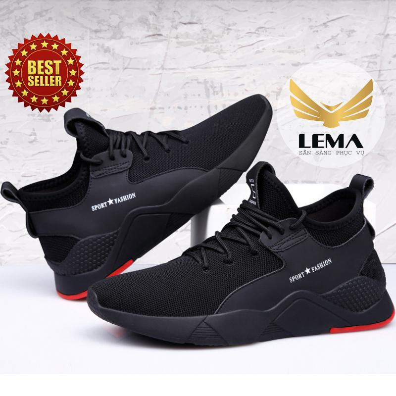 Giày Thể Thao Nam - Giày Sneakers Nam Full Đen Hot 2019 GN44 Cùng Giá Khuyến Mãi Hot