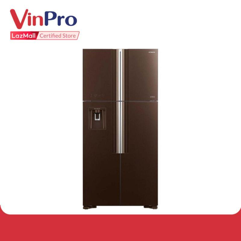 Tủ lạnh Hitachi R-FW690PGV7 540L Cao Cấp - Eco Inverter Siêu Tiết Kiệm Điện - Ngăn lấy nước ngoài, Màng lọc Nano Titanium kháng khuẩn khử mùi, Hệ thống làm lạnh quạt kép - Hàng chính hãng