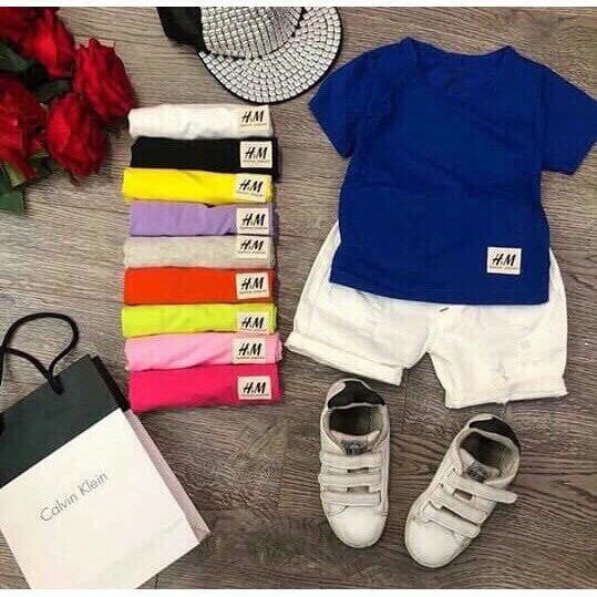 combo 5 áo thun cotton cho bé- áo thun mềm mịn trẻ em- áo thun đẹp ( màu ngẫu nhiên)