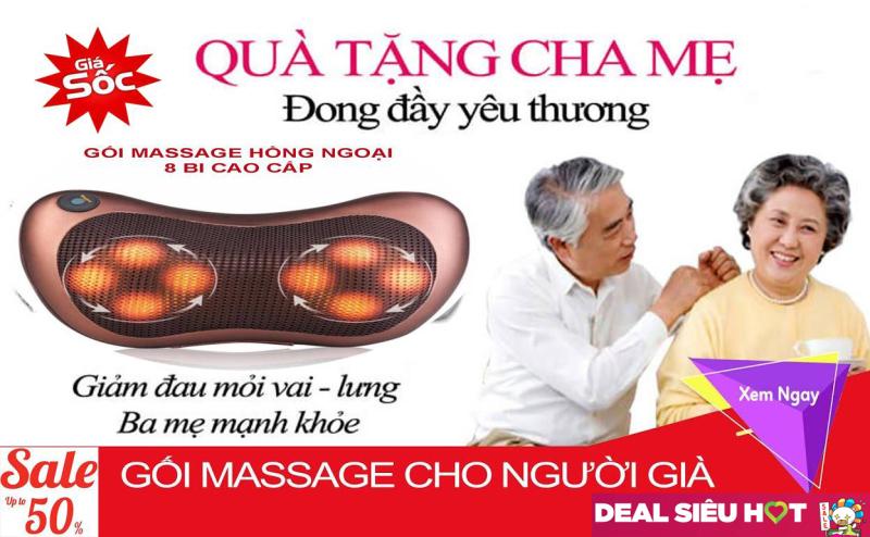 Gối Mat Xa Hồng Ngoại, Goi Matxa 8 Bi , Gối massage hồng ngoại cao cấp , gối mat sa , Gối Massage Cổ , Với 8 bi hoạt động mạnh mẽ giảm đau hiệu quả . giảm 50% [ tặng đầu nối 12v ô tô ]