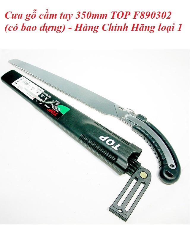 Cưa gỗ cầm tay 350mm TOP F890302 (có bao đựng) - Hàng Đài Loan