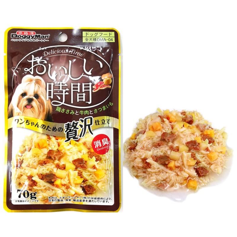 DOGGYMAN COMBO 12 Gói pate thịt gà cho chó bổ sung thịt bò và khoai lang