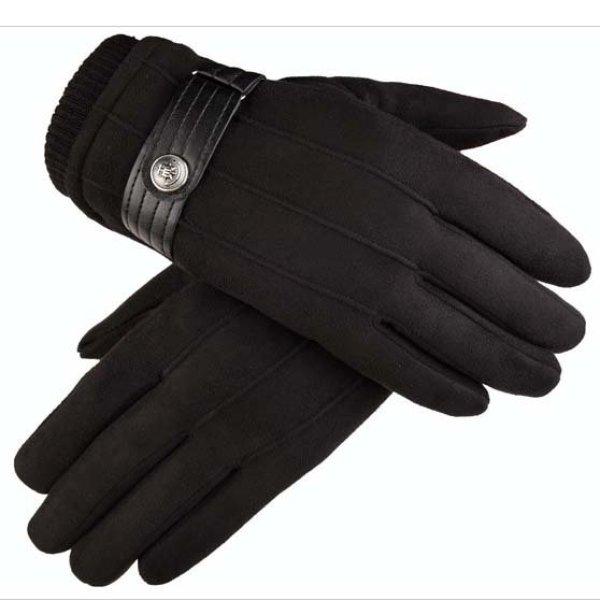 Găng tay nam da lộn chống nắng, bao tay da nam cao cấp mẫu NEW cảm ứng điện thoại CLD09