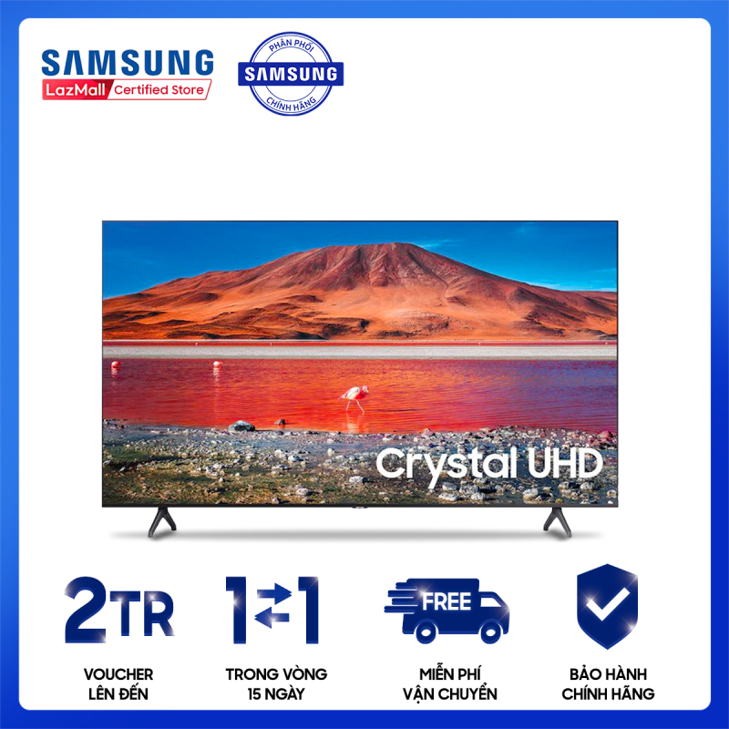 Smart Tivi Samsung Crystal 4K 55 inch UA55TU7000KXXV [Hàng chính hãng, Miễn phí vận chuyển] chính hãng