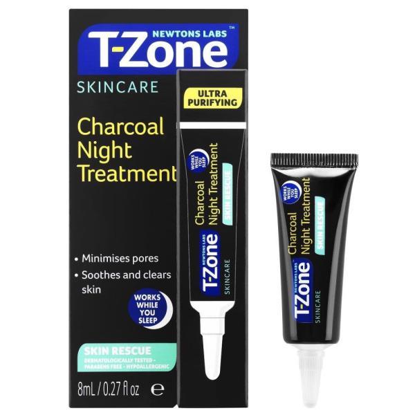 Kem giảm thâm mụn đầu đen, se lỗ chân lông T-ZONE Charcoal night 8ml