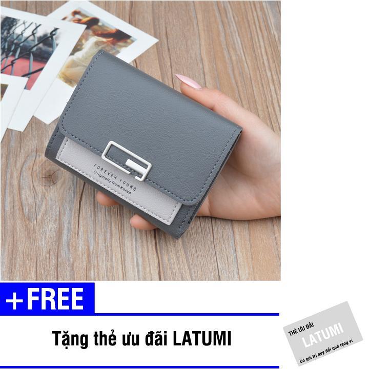 Ví cầm tay nữ da PU thời trang Latumi S3721 (Nhiều màu) + Tặng kèm thẻ ưu đãi Latumi