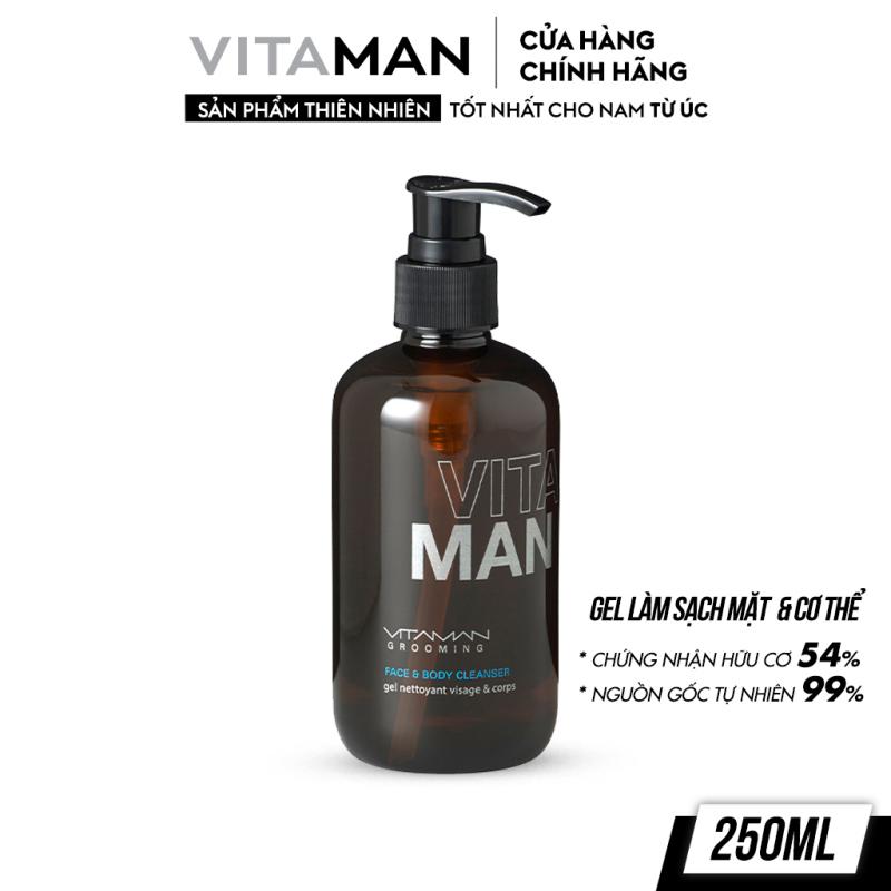 Gel Làm Sạch Mặt Và Toàn Thân Dành Cho Nam Vitaman Grooming Face & Body Cleanser 250ml