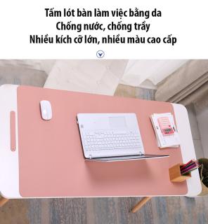 Tấm lót bàn làm việc bằng da chống nước, chống trầy, nhiều kích cỡ lớn, nhiều màu cao cấp (100 x 50 (cm)) thumbnail