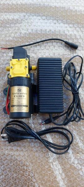 Máy bơm tăng áp mini 12v sinleader tự đông ngắt khi khóa van đầu ra kèm nguồn adapter 12v 5a