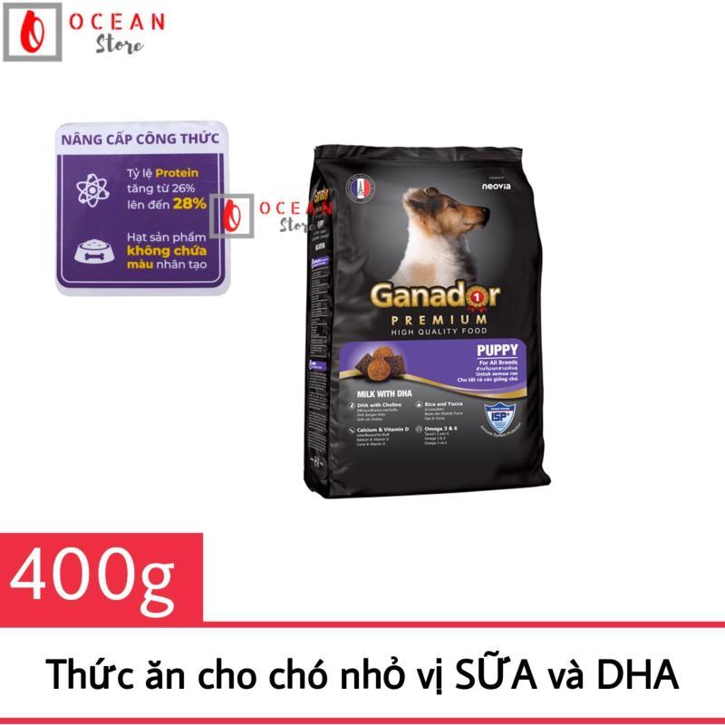 [BAO BÌ MỚI] Thức ăn cho chó vị sữa và DHA - Thức ăn Ganador Puppy  400g