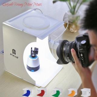 Hộp Chụp Ảnh Sản Phẩm Mini - Tặng Kèm 2 Dãy Đèn Led Ánh Sáng Trắng Và 6 Phông Nền thumbnail