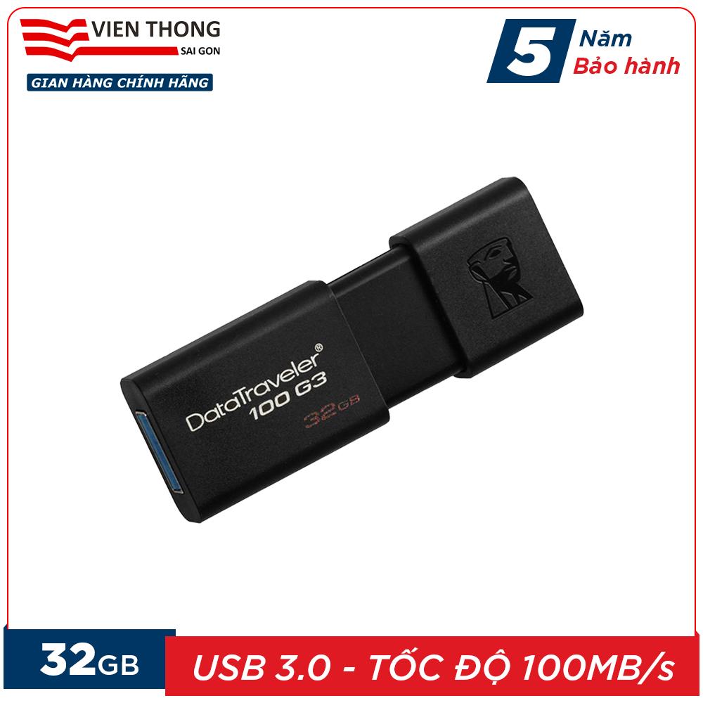 Giá Quá Tốt Để Có USB 3.0 32GB Kingston DT100G3 Tốc độ Upto 100MB/s - Hãng Phân Phối Chính Thức (PT)