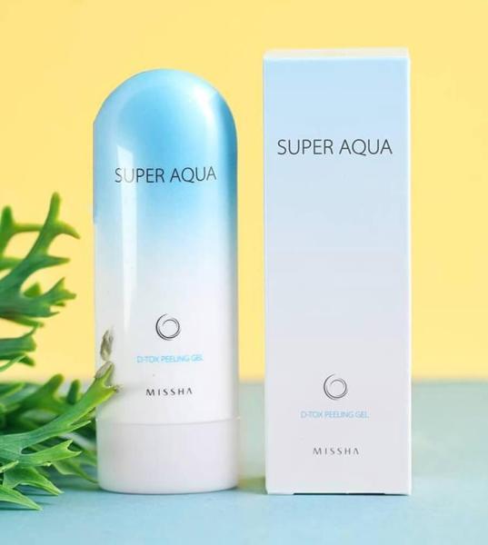 Gel Tẩy tế bào chết và thải độc cho da mặt Missha Super Aqua D-tox Peeling Gel cao cấp