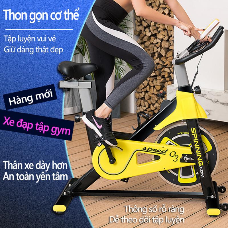 Xe đạp tập gym tại nhà màu vàng phối đen khỏe khoắn dụng cụ thập gym máy tập gym tại nhà  Our shopping home