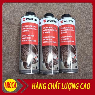 [ Khuyễn mãi 3 ngày ] Sơn phủ gầm ô Tô - Sơn Cao Su Non - Sơn phủ gầm WURTH 1000 m l- Sơn chống sét rỉ nhập khẩu AROCA ( Màu Đen ) thumbnail