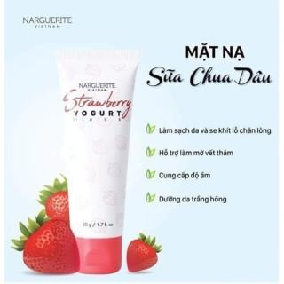 Mặt Nạ Sữa Chua Dâu Narguerite Dưỡng Trắng, Mềm Mịn Và Sáng Da - Strawberry Yogurt Mask 50g [Xả Kho Date 7 2021] thumbnail