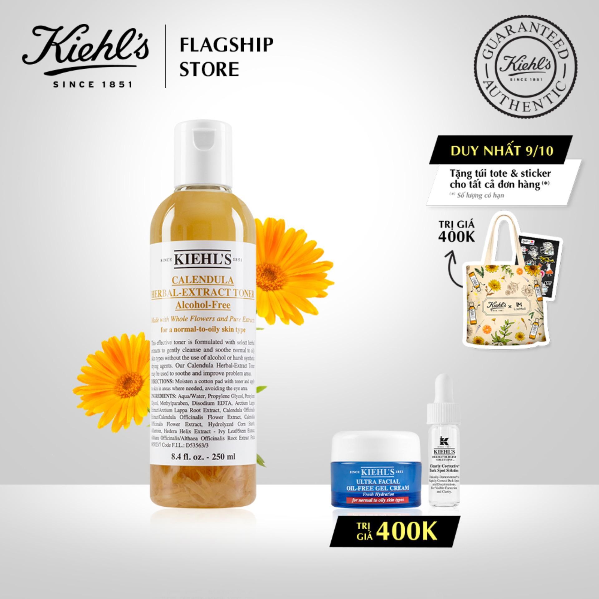 Toner Hoa Cúc Calendula Herbal Extract Alcohol-Free Toner Kiehls 250ml nhập khẩu