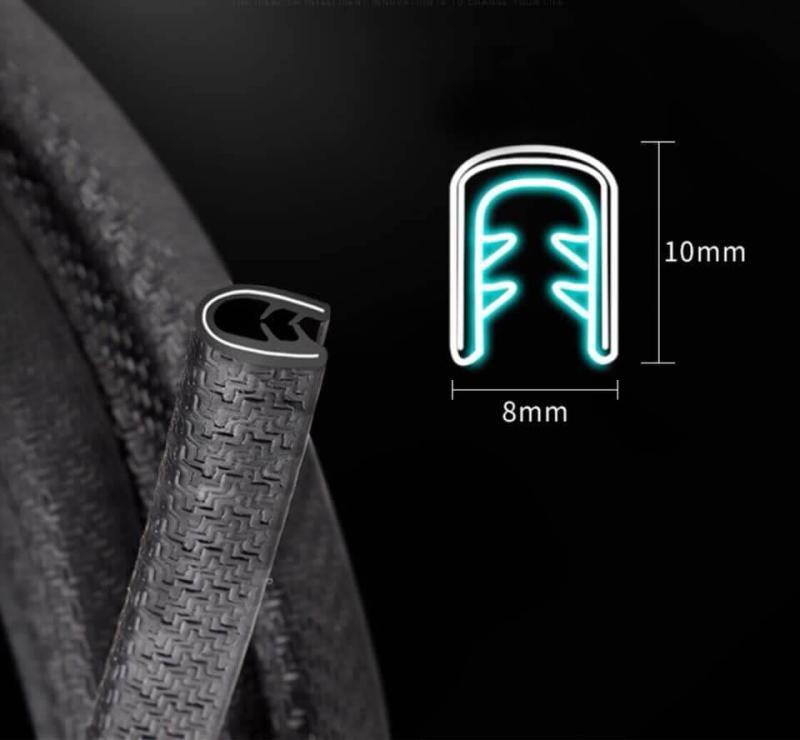 Gioăng cao su chữ U chống ồn cách âm ô tô chất lượng cao (cuộn 5 mét)