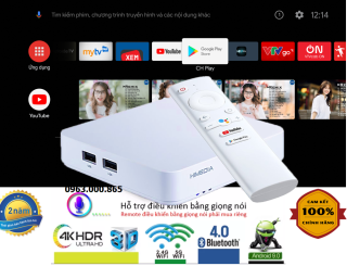 Tivi Box Android HIMEDIA S500 - New 2020 Android TV 9.0 Chính Chủ - Kèm Remote Voice