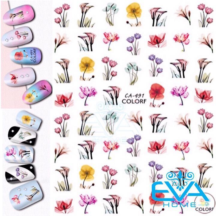 Miếng Dán Móng Tay 3D Nail Sticker Tráng Trí Hoạ Tiết Bông Hoa CA491 tốt nhất