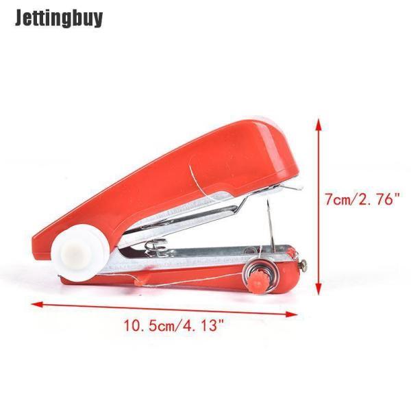 Jettingbuy Máy May Cầm Tay Mini Cầm Tay Tiện Dụng Màu Đỏ Sử Dụng Du Lịch