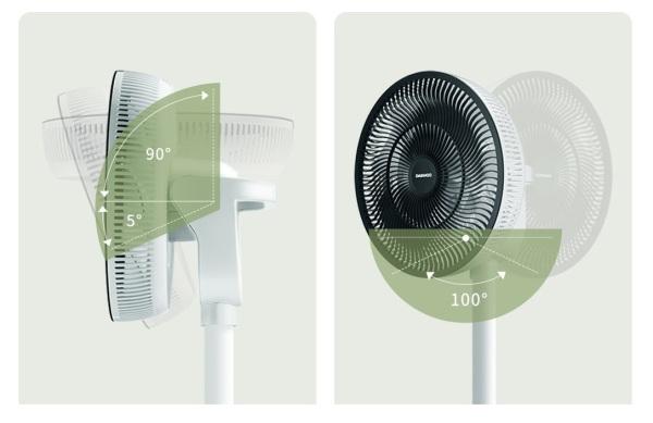 Quạt tích điện Xiaomi DAEWOO F1 (ĐỘNG CƠ KHÔNG CHỔI THAN, PIN 4400MAH, ĐIỀU KHIỂN TỪ XA)