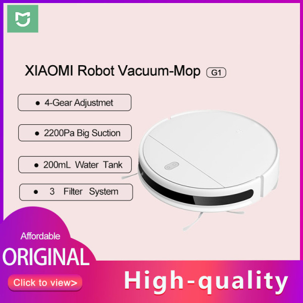 YouPin New MIJIA Máy hút bụi. Mi Sweeping Mopping Robot Vacuum Cleaner G1 for home cordless Washing 2200PA cyclone Suction Smart Planned WIFI