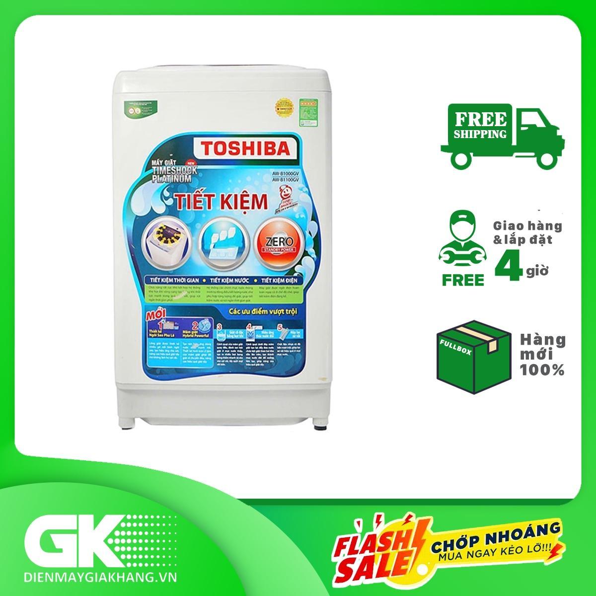 Máy giặt Toshiba 9kg AW-B1000GV WB, Tốc độ vắt 700 vòng/phút, xuất xứ Thái Lan - Bảo hành 24 tháng