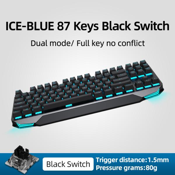 MACHENIKE Bàn phím cơ chơi game không dây chuẩn Bluetooth có đèn LED dùng cho máy tính bàn máy tính bảng laptop - INTL