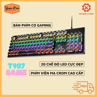 Bàn phím cơ gaming dành cho game thủ, hàng chuẩn chất lượng cao YUMPRO T907 Esports Pro 2021 Nâng Cấp Có 20 Chế Độ LED RGB Khác Nhau Đánh Mọi Game thumbnail