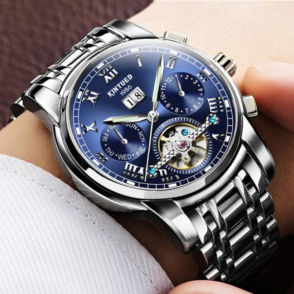 Đồng hồ Cơ Nam KINYUED - Dây Thép Đúc Đặt - Máy Automatic cao cấp bán chạy