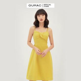 Váy đầm nữ 2 dây quyến rũ xếp ngực nổi bật thời trang GUMAC mẫu mới DB311 chất liệu Kate lụa cao cấp mát mẻ, thanh lịch và sang chảnh thumbnail