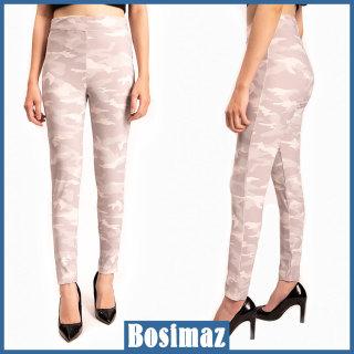 Quần Legging Nữ Bosimaz MS019 dài không túi màu trắng rằn ri cao cấp, thun co giãn 4 chiều, vải đẹp dày, thoáng mát không xù lông. thumbnail